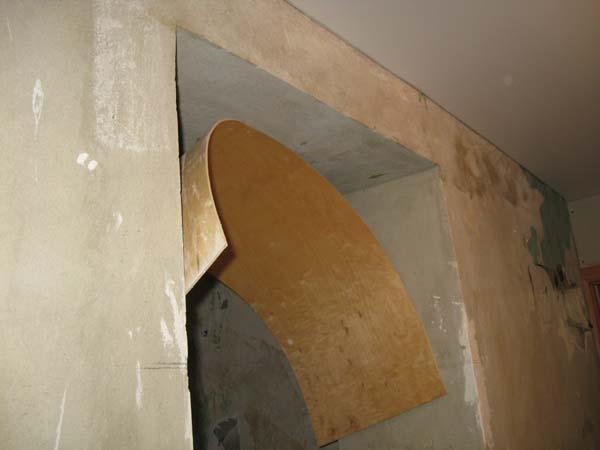 Как сделать арку из дверного проема